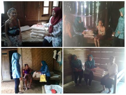 Santunan Sembako untuk warga Jompo oleh TP-PKK Desa Ngembel